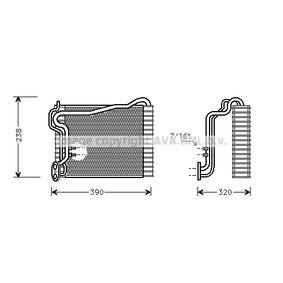 PRASCO Verdampfer, Klimaanlage AIV145 für AUDI 90 (89, 89Q, 8A, B3) 2.2 E quattro ab Baujahr 04.1987, 136 PS