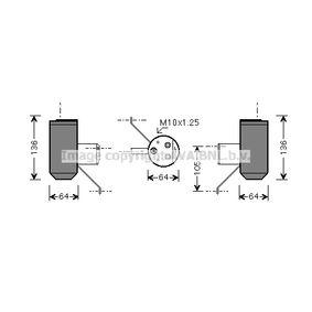 Изсушител, климатизация AUD210 25 Хечбек (RF) 2.0 iDT Г.П. 2001