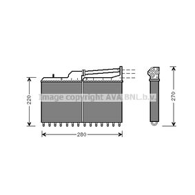 PRASCO  BW6029 Wärmetauscher, Innenraumheizung Kühlrippen mechanisch gefügt