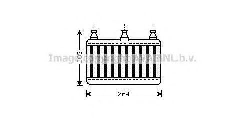PRASCO  BW6341 Wärmetauscher, Innenraumheizung