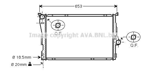 PRASCO  BWA2205 Radiateur, refroidissement du moteur