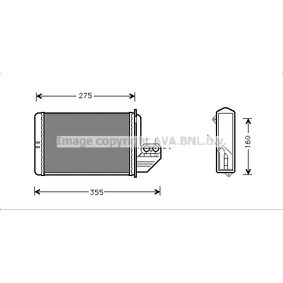 Wärmetauscher, Innenraumheizung Art. Nr. BWA6172 120,00€