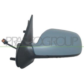 PRASCO Side view mirror Left, Electric, Aspherical, Blue-tinted, Electronically foldable, Heatable, Internal Adjustment, with mirror glass, Primed
