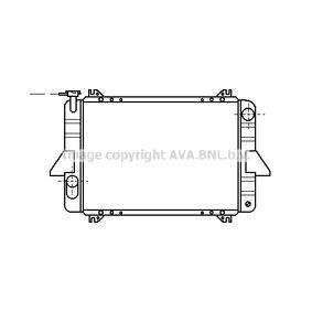 PRASCO Radiador, refrigeración del motor DN2088 con OEM número 21400C8200
