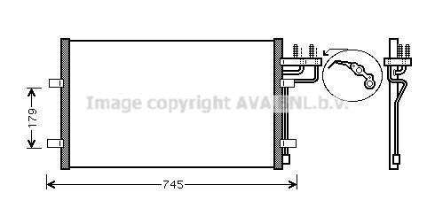 PRASCO  FDA5367 Kondensator, Klimaanlage