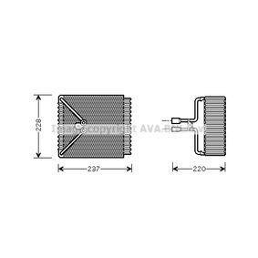 Verdampfer, Klimaanlage FDV371 MONDEO 3 Kombi (BWY) 2.0 TDCi Bj 2003