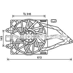 Fan, radiator FT7565 PANDA (169) 1.2 MY 2021
