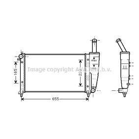 Radiator, engine cooling FTA2218 PUNTO (188) 1.2 16V 80 MY 2002