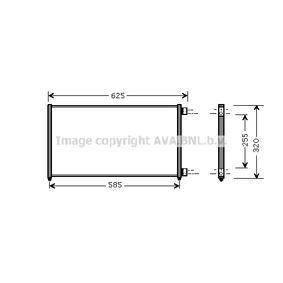 Condenser, air conditioning FTA5256 PUNTO (188) 1.2 16V 80 MY 2002