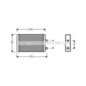 Heat Exchanger, interior heating FTA6220 PUNTO (188) 1.2 16V 80 MY 2000