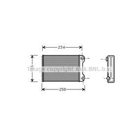Heat Exchanger, interior heating FTA6242 PUNTO (188) 1.2 16V 80 MY 2006