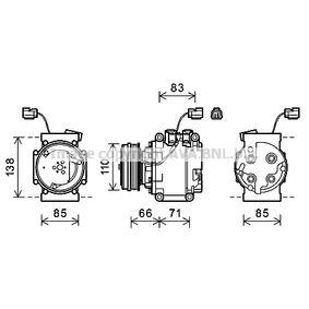 Компресор, климатизация HDAK260 Jazz 2 (GD_, GE3, GE2) 1.2 i-DSI (GD5, GE2) Г.П. 2002