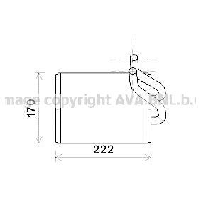 Wärmetauscher, Innenraumheizung Art. Nr. KA6170 120,00€