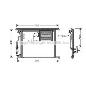 Kondensator, Klimaanlage Kältemittel: R 134a mit OEM-Nummer 2205001054