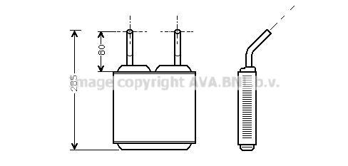 PRASCO топлообменник, отопление на вътрешното пространство  OL6115
