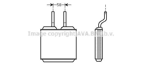 PRASCO топлообменник, отопление на вътрешното пространство ръчна скоростна кутия  за автомобили с ляв волан  OL6197