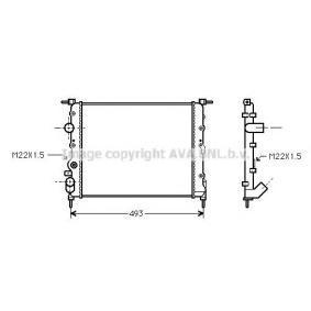 Kühler, Motorkühlung RT2197 CLIO 2 (BB0/1/2, CB0/1/2) 1.5 dCi Bj 2014