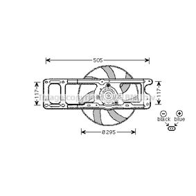 Ventilador de Radiador para RENAULT Clio II Hatchback (BB