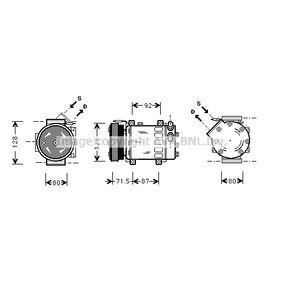 Kompressor, Klimaanlage RTAK281 CLIO 2 (BB0/1/2, CB0/1/2) 1.5 dCi Bj 2008