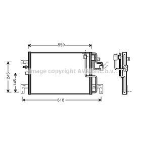 Kondensator, Klimaanlage Netzmaße: 510x351x16 mit OEM-Nummer 47 58 637