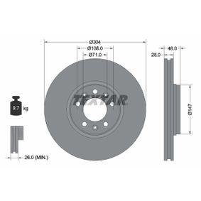 Brake Disc Brake Disc Thickness: 28mm, Ø: 304mm with OEM Number 1618865180