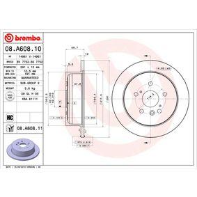 Bremsscheibe Bremsscheibendicke: 12mm, Lochanzahl: 5, Ø: 291mm mit OEM-Nummer 42431 28090