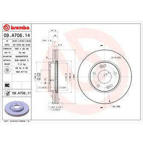 Brake Disc Brake Disc Thickness: 26mm, Num. of holes: 5, Ø: 280mm with OEM Number 51712 1D100