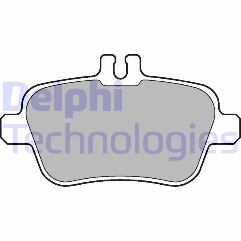 DELPHI  LP2289 Bremsbelagsatz, Scheibenbremse Höhe 2: 59mm, Höhe: 59mm, Dicke/Stärke 1: 18mm, Dicke/Stärke 2: 18mm
