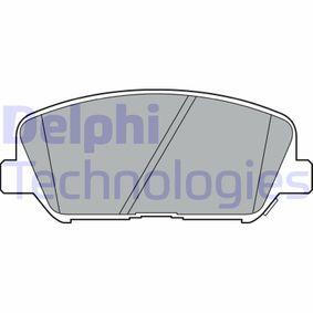 DELPHI  LP2477 Bremsbelagsatz, Scheibenbremse Höhe: 60mm, Dicke/Stärke 1: 18mm