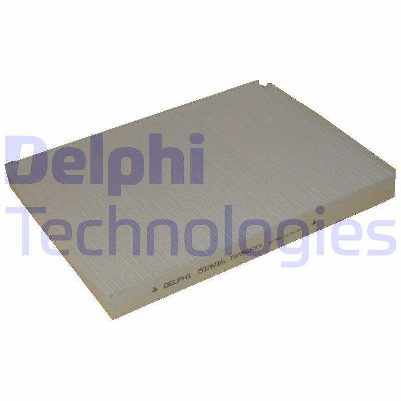 DELPHI  TSP0325004C Filter, Innenraumluft Länge: 280mm, Breite: 206mm, Höhe: 25mm