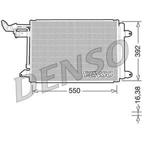 Kondensator, Klimaanlage Netzmaße: 550x392x16, Kältemittel: R 134a mit OEM-Nummer 1K0 820 411G