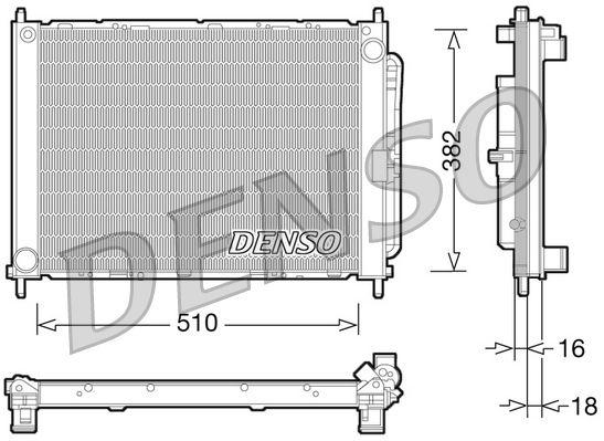 DENSO  DRM23101 Kühlmodul Gewicht: 5500g, Aluminium, Kunststoff