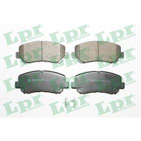 Bremsbelagsatz, Scheibenbremse Breite: 141,8mm, Höhe: 60,9mm, Dicke/Stärke: 15,8mm mit OEM-Nummer 25564 LPR