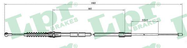 LPR  C0064B Seilzug, Feststellbremse Länge: 1443/805mm