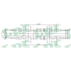 Seilzug, Feststellbremse Länge: 1252/1060+1060mm mit OEM-Nummer 522656