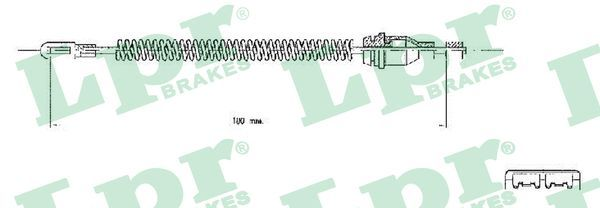 LPR  C0543B Seilzug, Feststellbremse Länge: 182mm, Länge: 182mm, Länge: 182mm, Länge: 182mm