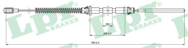 LPR  C0574B Seilzug, Feststellbremse Länge: 799/485mm