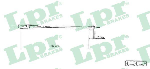 LPR  C0578B Seilzug, Feststellbremse Länge: 130mm, Länge: 130mm, Länge: 130mm, Länge: 130mm