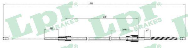 LPR  C0809B Seilzug, Feststellbremse Länge: 1580/918mm