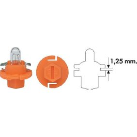 Bulb, instrument lighting with OEM Number 009600650000