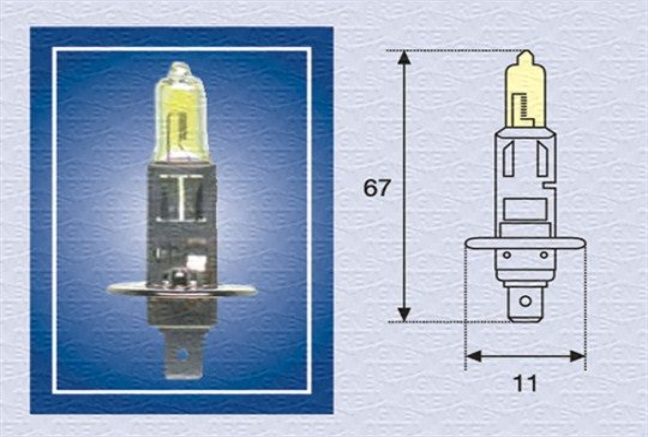 Bulb, spotlight 002571100000 MAGNETI MARELLI H112TC original quality