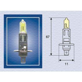 Glühlampe, Fernscheinwerfer H1, 55W, 12V 002571100000 VW GOLF, POLO, SHARAN