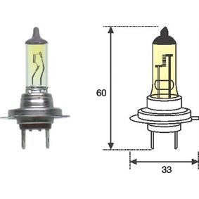 Glühlampe, Fernscheinwerfer H7, 55W, 12V 002577100000