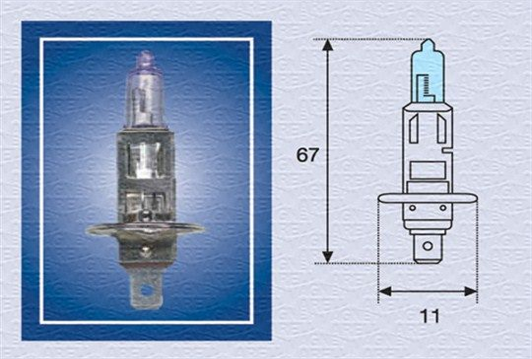 Bulb, spotlight 002601100000 MAGNETI MARELLI H112BL original quality