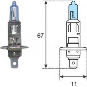 Glühlampe, Fernscheinwerfer H1, 55W, 12V 002601100000 VW GOLF, POLO, SHARAN