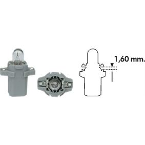Bulb, instrument lighting B2,4W, B8,3d, 1,2W, 24V 003734100000