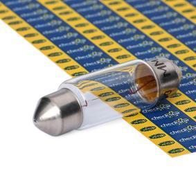 Bulb, licence plate light C5W, SV8,5-8, 12V, 5W 009418100000