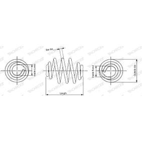 MONROE  SN2212 Fahrwerksfeder Länge: 300mm, Ø: 143mm