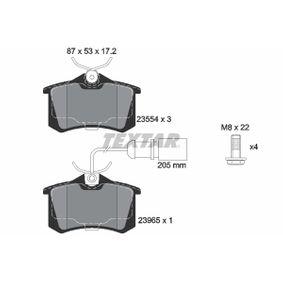 Bremsbelagsatz, Scheibenbremse Breite: 87mm, Höhe: 53mm, Dicke/Stärke: 17,2mm mit OEM-Nummer 1343513