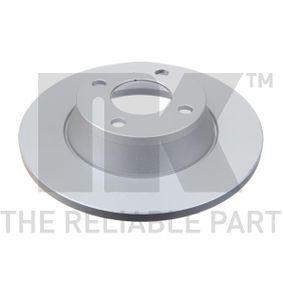 Bremsscheibe Bremsscheibendicke: 13mm, Felge: 4-loch, Ø: 280mm mit OEM-Nummer 8A0 615 301D